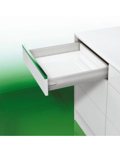 Schubladensystem DWD-XP Zargenhöhe 95 mm NL 350 mm Soft-Close grau (alu-metallic look)